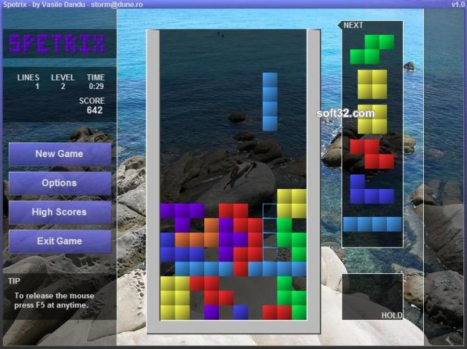 Spetrix (Tetris) Screenshot