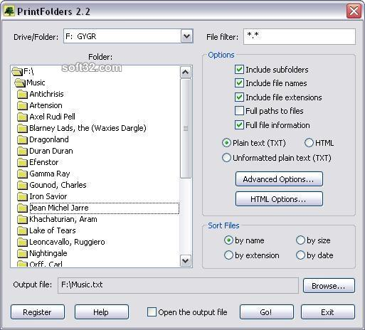 PrintFolders Screenshot 2