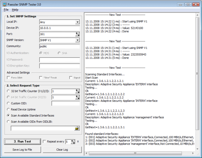 Paessler SNMP Tester Screenshot