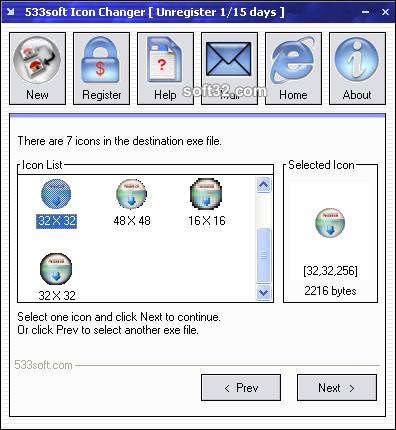 533soft Icon Changer Screenshot 4