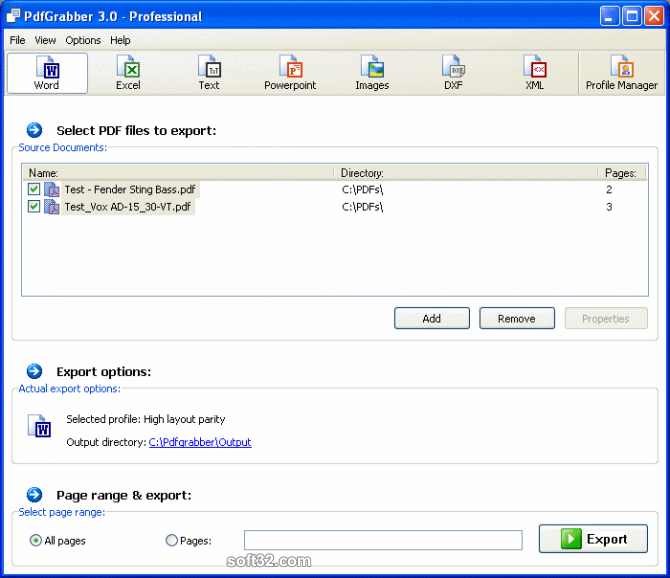 PdfGrabber Screenshot 2