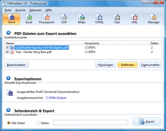 PdfGrabber Screenshot 1