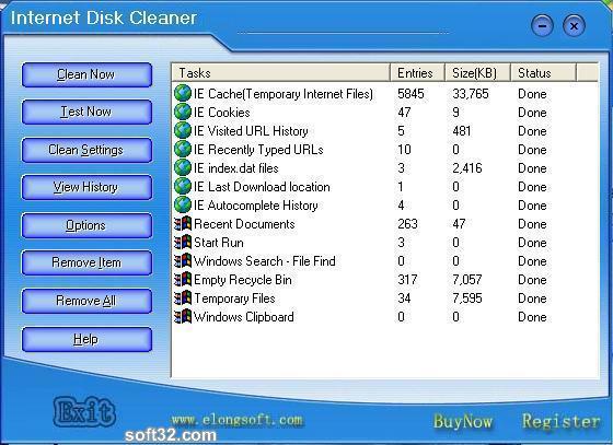 Internet Disk Cleaner Screenshot 3