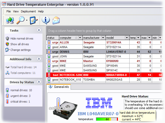 HDD Temperature Enterprise Screenshot