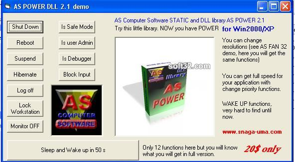 AS POWER WIN32 DLL Screenshot 3