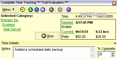 Complete Time Tracking Standard Screenshot 2