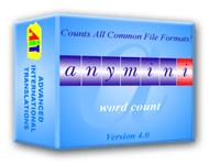 AnyMini W: Word Count Software Screenshot
