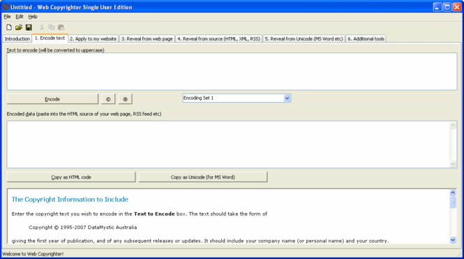 Web Copyrighter Screenshot 1