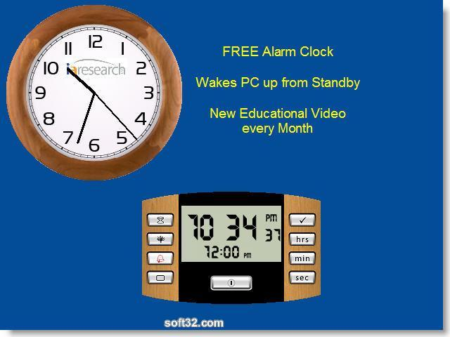 www.iaresearch.com SnazzyClock Screenshot 1