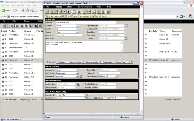 Defect Manager Screenshot 1