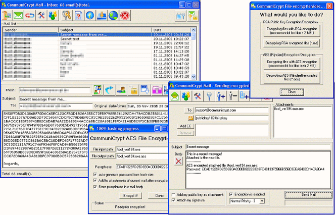 CommuniCrypt Mail Screenshot