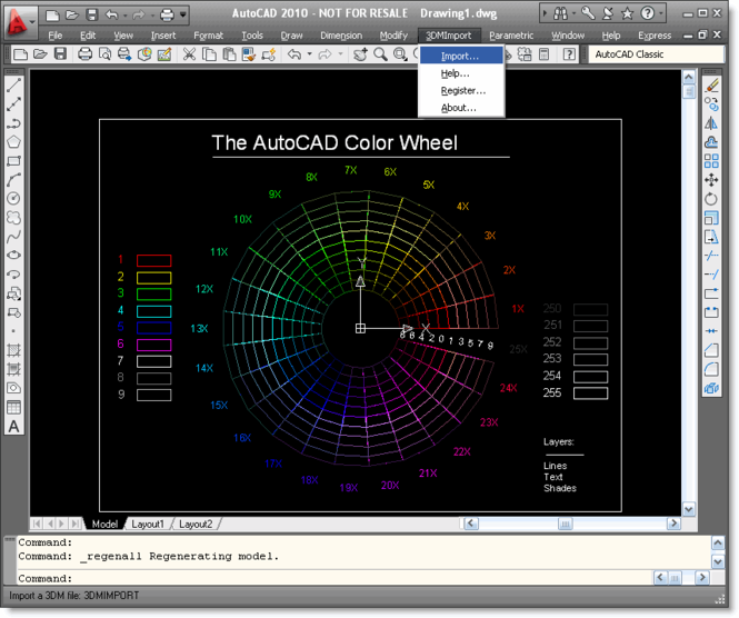 3DM Import for AutoCAD Screenshot 1