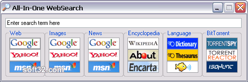 All-In-One WebSearch Screenshot
