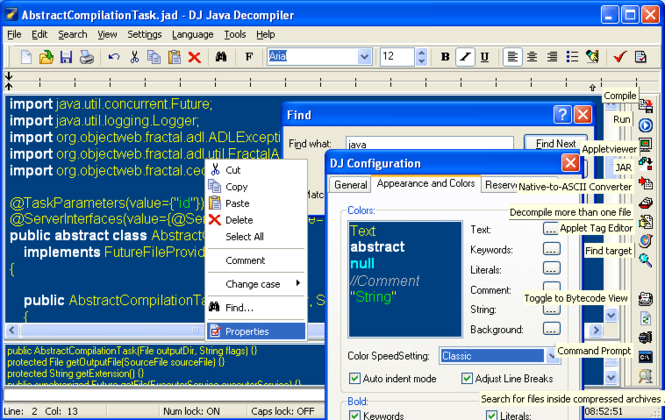 DJ Java Decompiler Screenshot