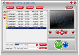 Movkit Batch Video Converter Screenshot