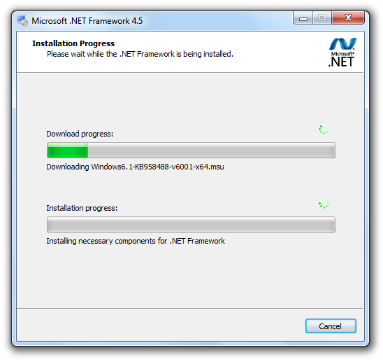 Microsoft .NET Framework Screenshot