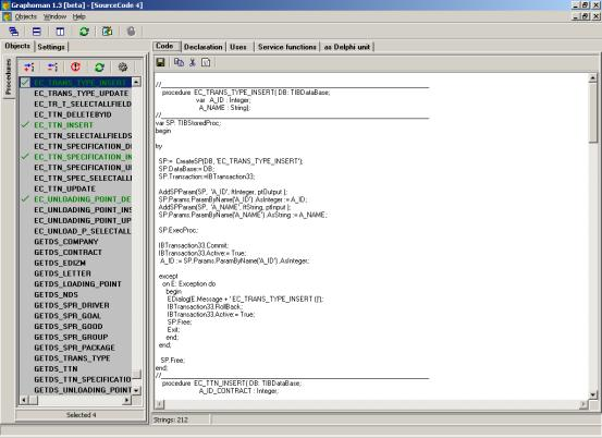 Delphi Graphoman for InterBase Screenshot