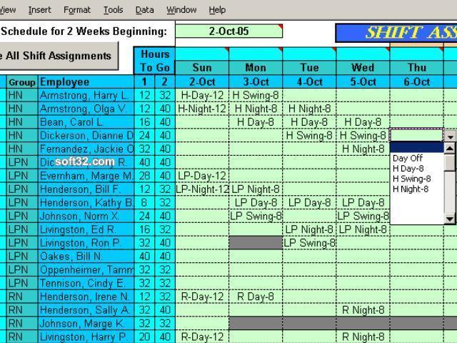 Easy Shift Scheduler for Excel Screenshot 3