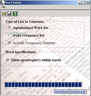Word Sorter Screenshot 2