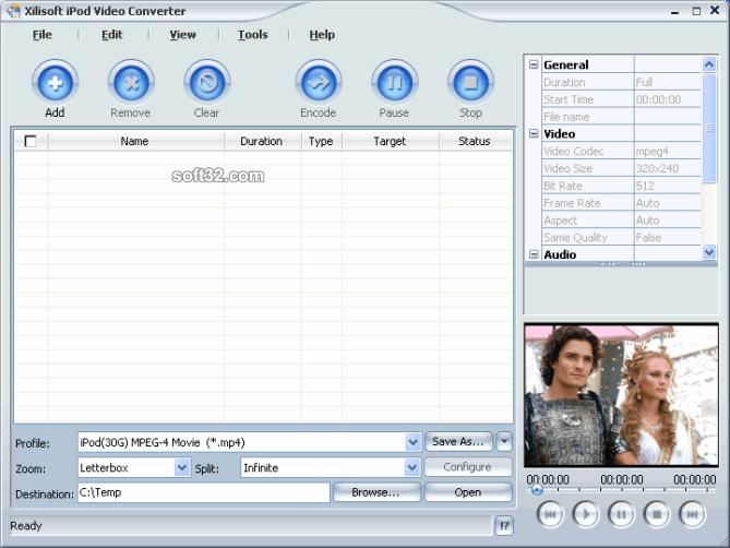 Xilisoft iPod Video Converter Screenshot 3