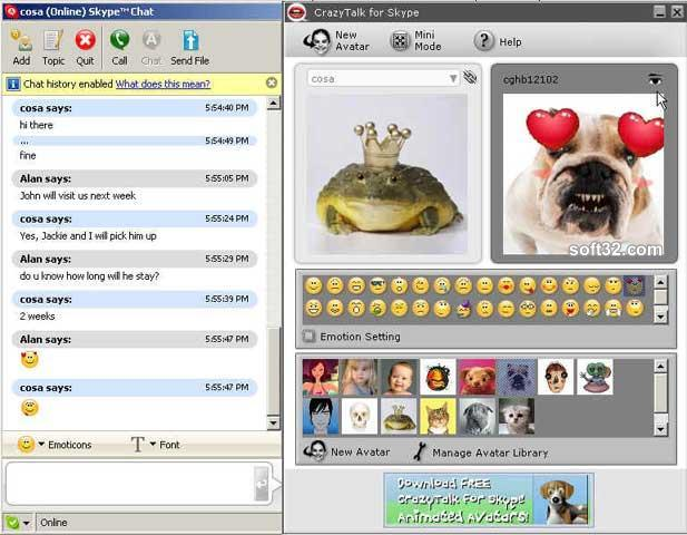 Reallusion CrazyTalk for Skype Screenshot 3