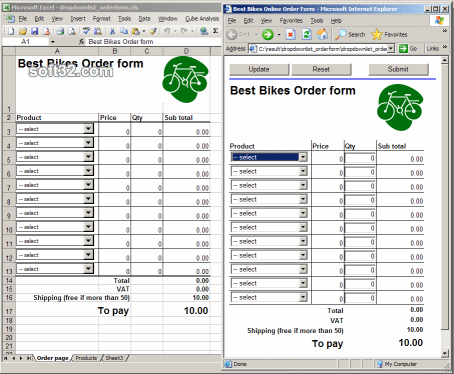 SpreadsheetConverter to Java/JSP Std Ed Screenshot 2