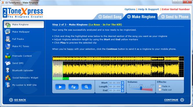 DJ ToneXpress The Ringtone Creator Screenshot 3