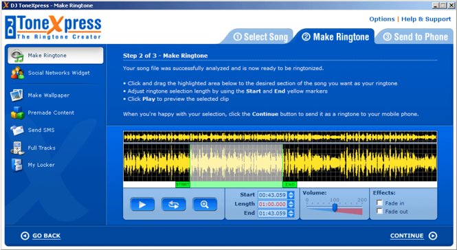 DJ ToneXpress The Ringtone Creator Screenshot 1