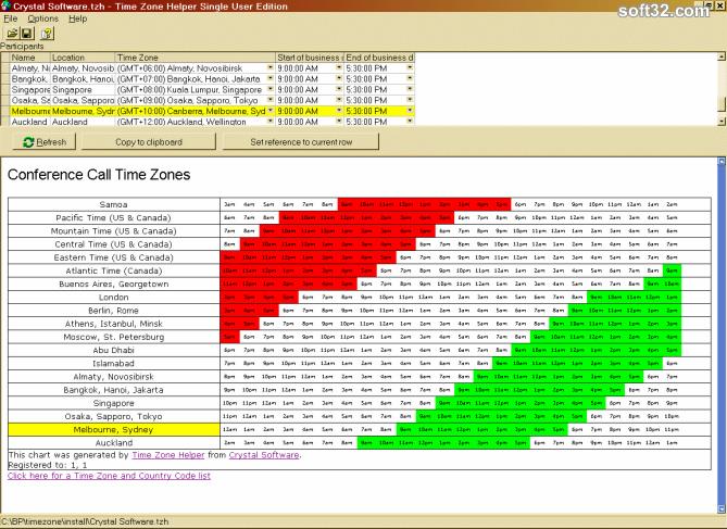 Time Zone Helper Screenshot 2