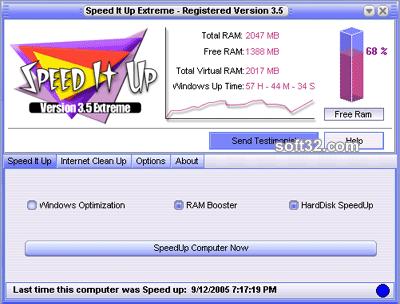 SpeedItUp Extreme - Free Speed Booster Screenshot 2