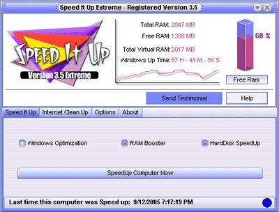 SpeedItUp Extreme - Free Speed Booster Screenshot 1