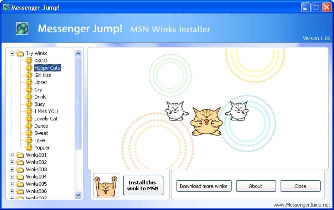 Messenger Jump! MSN Content Installer Screenshot 1