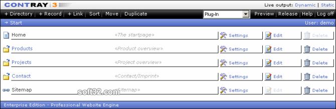 ContRay - Professional Website Engine Screenshot 3