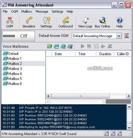 IVM Voicemail Software Screenshot 3