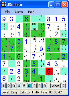 JSudoku Screenshot 1