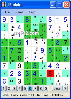 JSudoku Screenshot 3