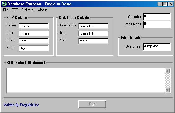 Progwhiz Data Extractor Screenshot