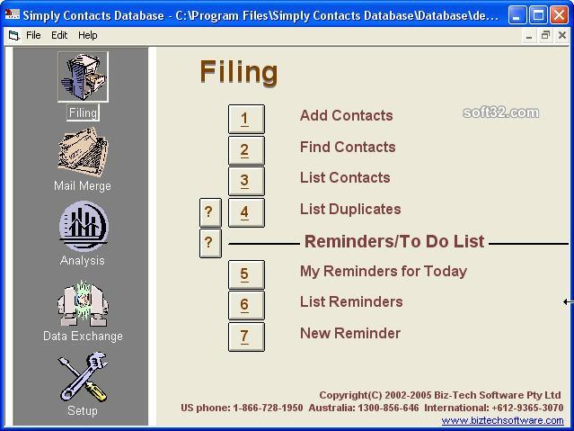 Simply Contacts Database Screenshot 2