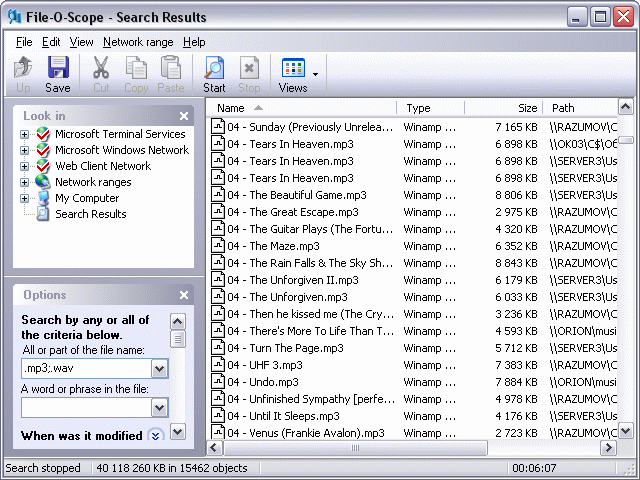 File-O-Scope Screenshot