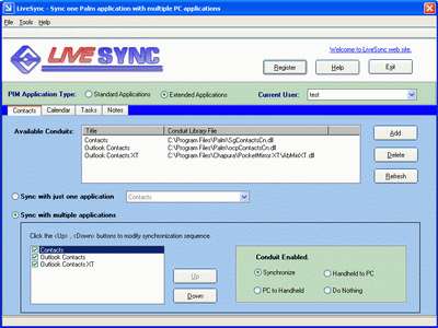 LiveSync Screenshot