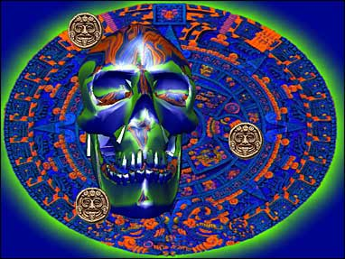 Aztec Skull 3D Screensaver Screenshot