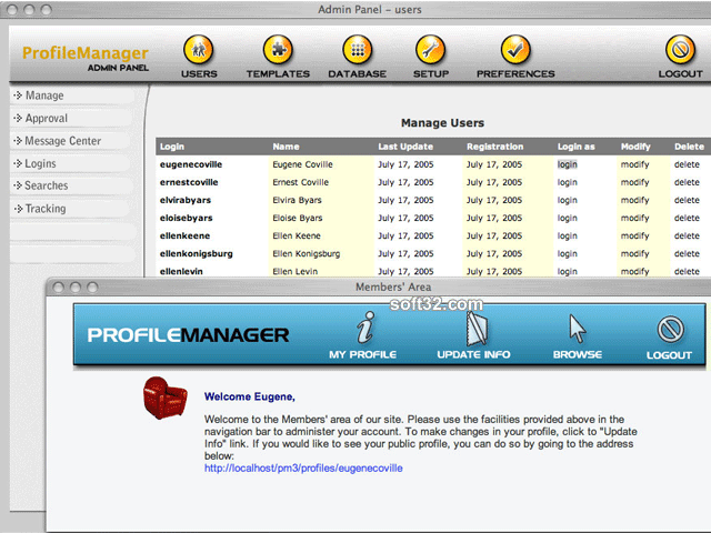 Profile Manager Basic Screenshot 2