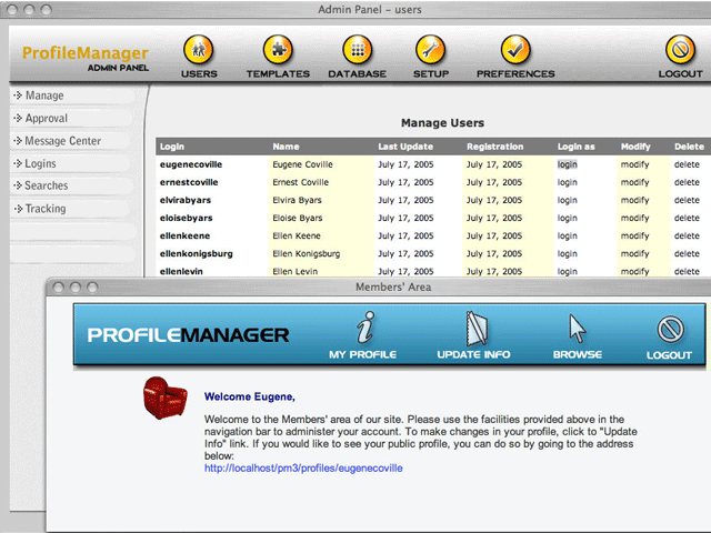 Profile Manager Basic Screenshot 1