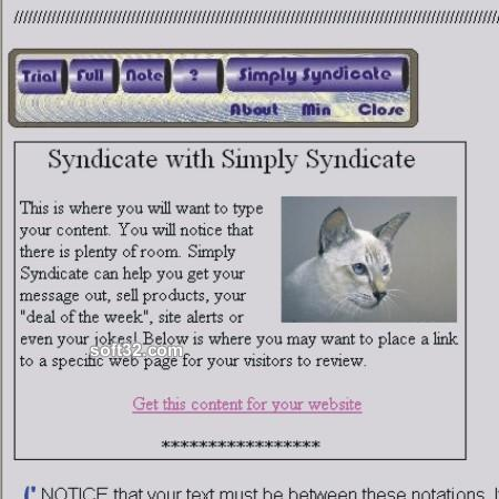 Simply Syndicate Trial Screenshot 3