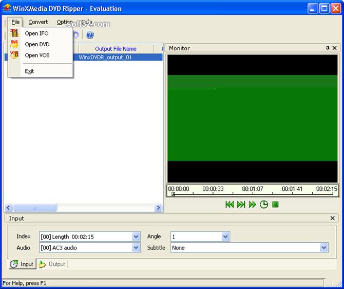 WinXMedia DVD Ripper Screenshot 2