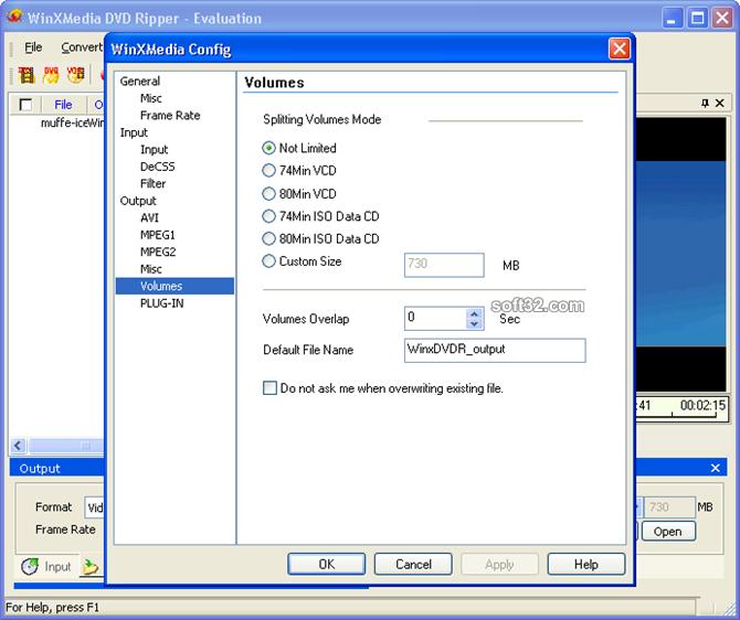 WinXMedia DVD Ripper Screenshot 5
