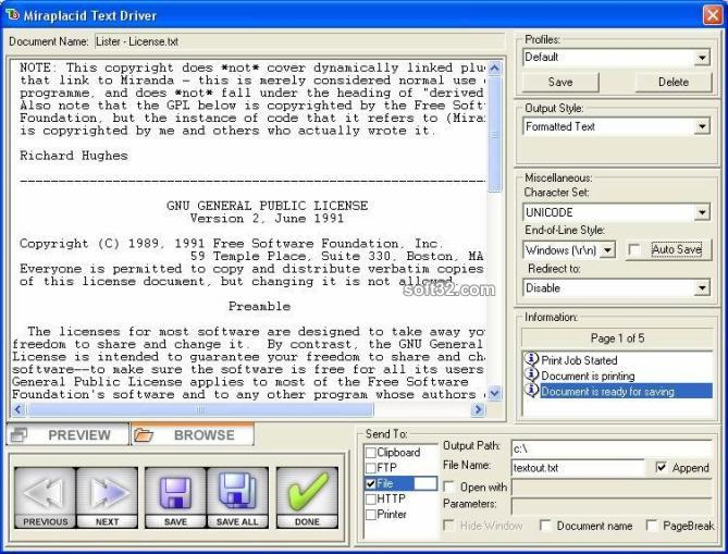 Miraplacid Text Driver Terminal Edition Screenshot 3