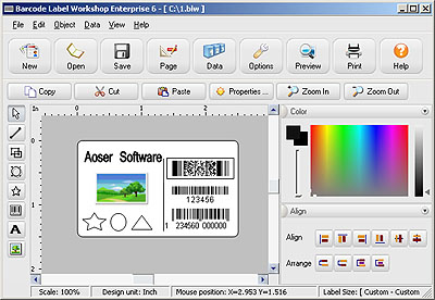 Barcode Label Workshop Professional Screenshot