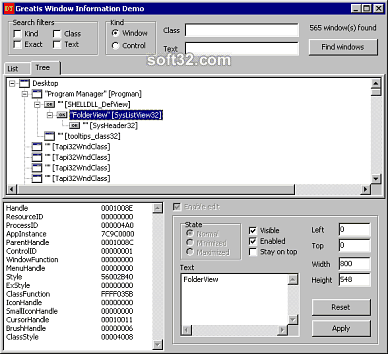 Window Information Screenshot 3