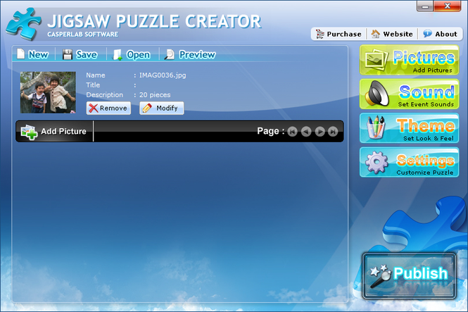 Jigsaw Puzzle Creator Screenshot